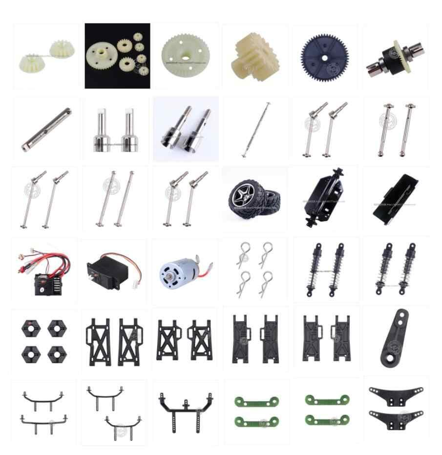 Wltoys 12401 12402 12403 12404 12409 piezas de repuesto de coche teledirigido motor receptor servo diferencial eje de transmisión neumáticos brazo oscilante etc 1