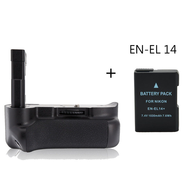 Майке MK-D3100 Батарейная ручка держатель для <font><b>Nikon</b></font> D3100 <font><b>D3200</b></font> + EN-EL 14 Батарея