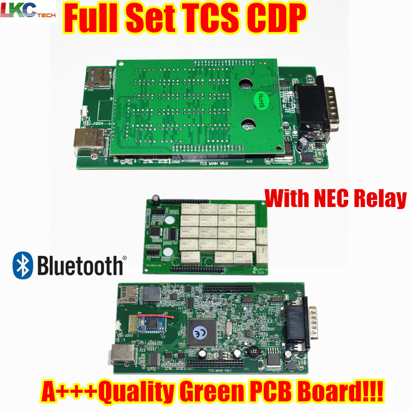 With Cover TCS CDP 2015.R3/2014.R2 With Keygen OBD2 OBD Diagnostic Tool for Cars/Trucks tcs cdp pro plus With Green PCB Board new arrival new vci cdp with best chip pcb board 3 0 version vd tcs cdp pro plus bluetooth for obd2 obdii cars and trucks