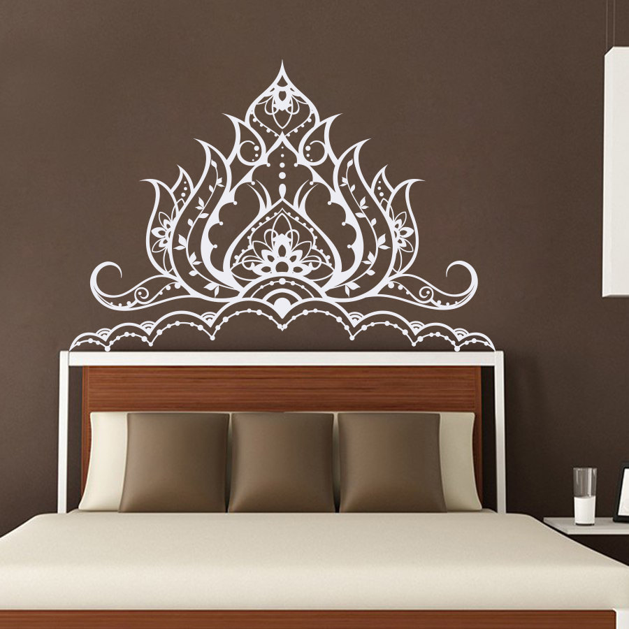 US $11.54 26% OFF|Mandala Flower Wall Decal Master Bedroom Vinyl Wall  Stickers Moraccan Headboard Wall Sticker Removable Home Decor Art  MuralSY114-in ...