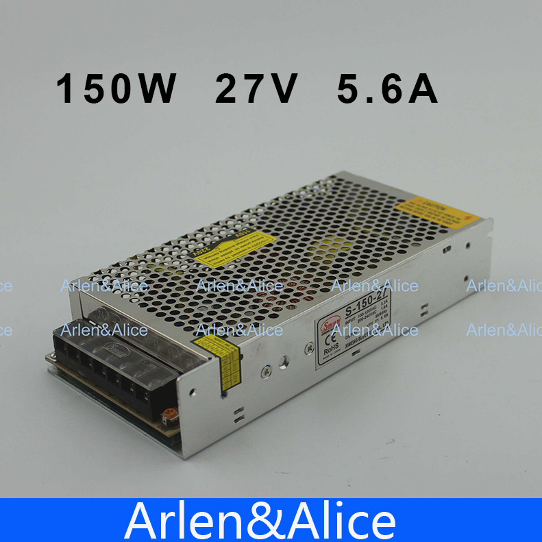 150W 27V 5.6A Single Output Switching power supply for LED Strip light AC to DC 1200w 48v adjustable 220v input single output switching power supply for led strip light ac to dc