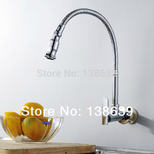 free shipping in wall mounted brass kitchen faucet fold expansion