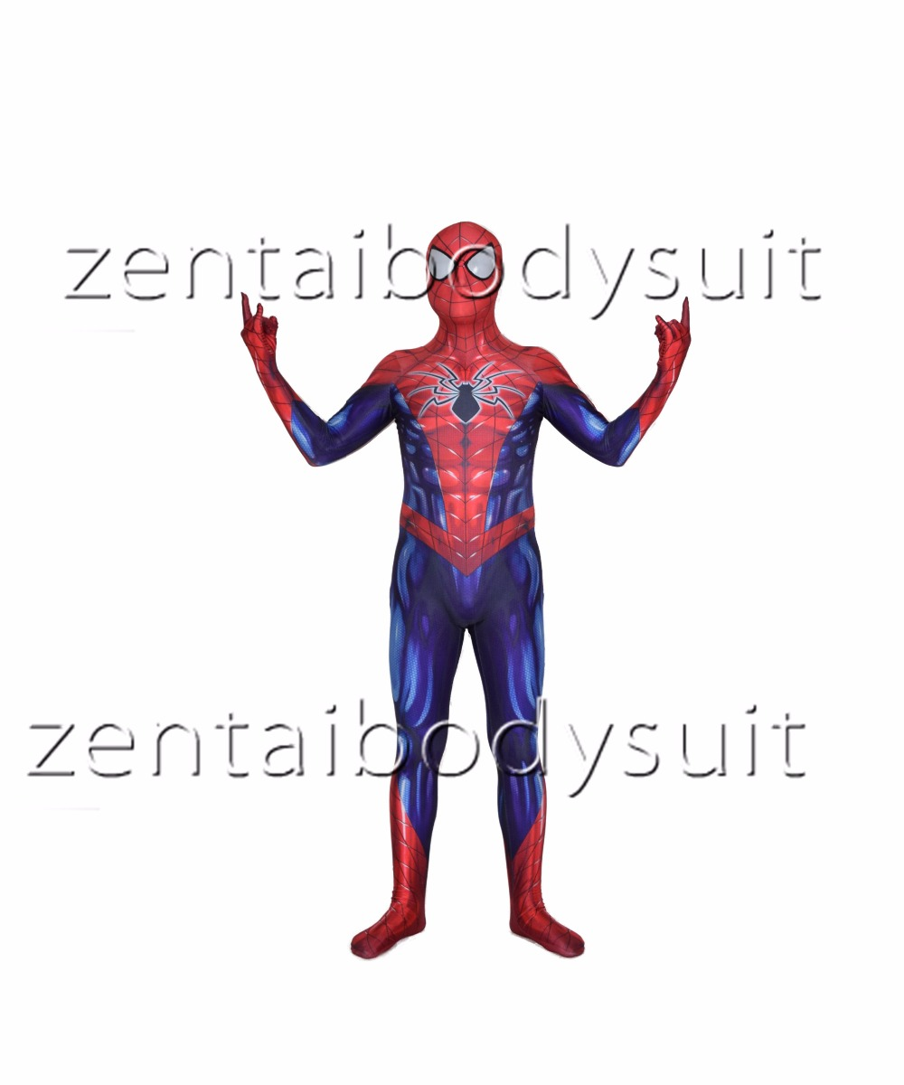 3D Print All-New Spiderman Superhero Spandex Lycra Zentai Bodysuit Halloween Cosplay Party suit free delivery