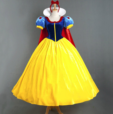 New 2017 Women Adult Snow Queen Costume Adult Snow White Custom Made Halloween Costume
