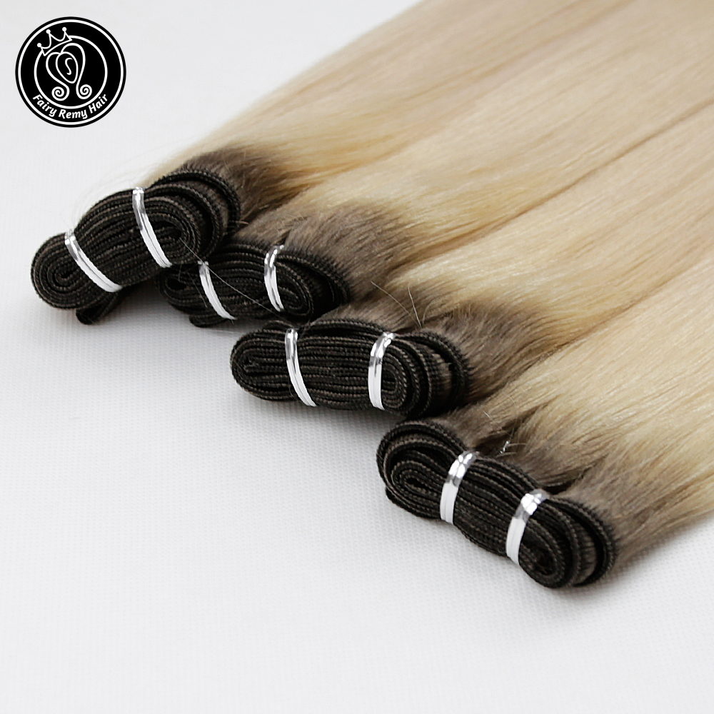 Fairy Remy Hair European Hair Weave Bundles Straight Human Hair Weft 100g/pc 16