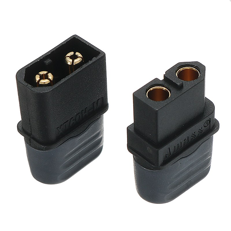 Black Amass XT60H Male /& Female Plug Connector With Sheath Housing