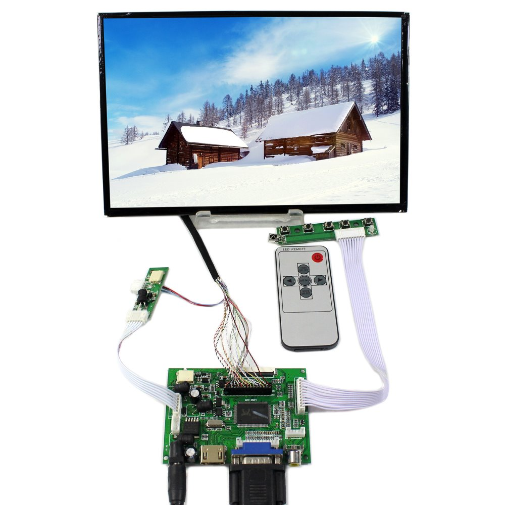 HDMI VGA 2AV LCD Controller Board With 10.1 B101UAN02.1 1920x1200 AHAV LCD Screen hdmi vga 2av lcd controller board with 7inch n070icg ld1 39pin reversal1280x800 ips touch lcd