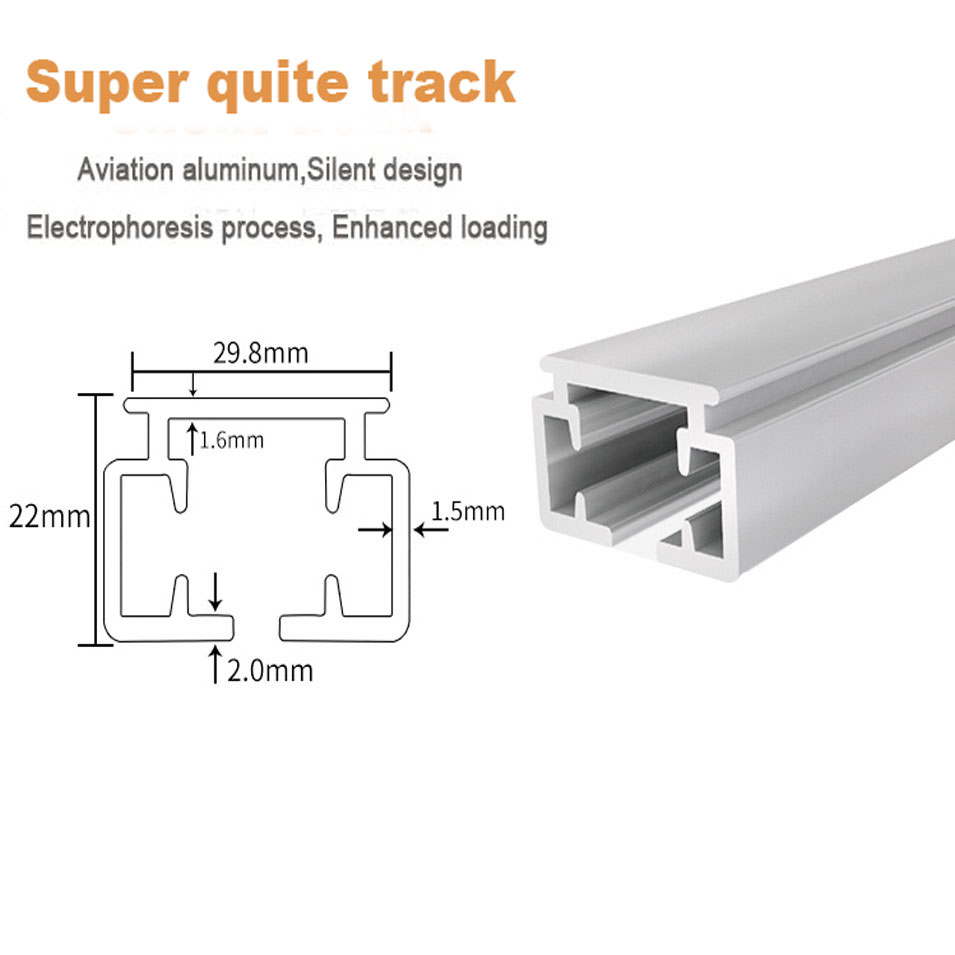 Image 2 - Customized High quality Super Quiet Electric Curtain Track for Xiaomi and DOOYA Curtain motor, Super Silent Curtain rail-in Automatic Curtain Control System from Home Improvement