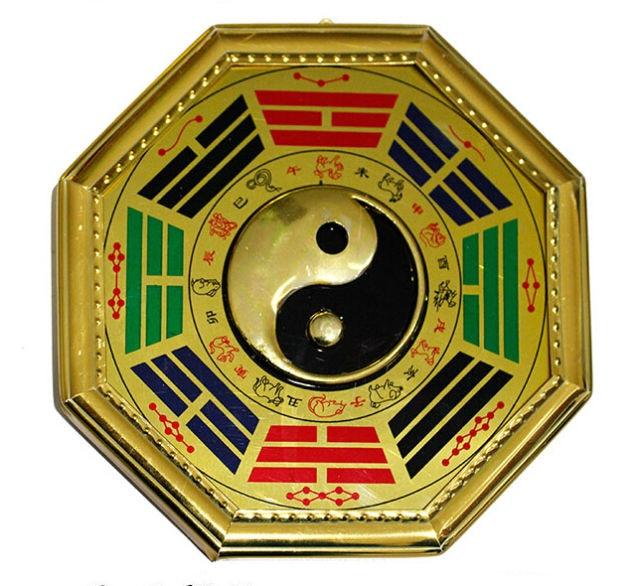 Chino tradicional feng shui bagua yin yang espejo en - Espejo feng shui ...