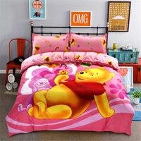 Disney Winnie Bear Piglet Tigger Comforters Bedding Set Queen Twin Size Duvet Cover Sheet Pillowcase Set Girls Bed Bedding Set