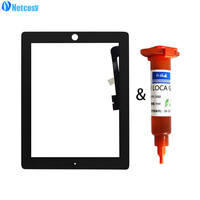 Netcosy Tablet Touch Panel For IPad 4 A1458 A1459 A1460 Black White Touch Screen Digitizer Panel