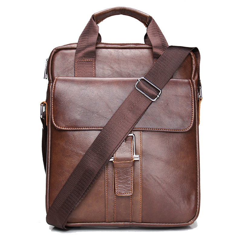 Hot Sale New Fashion Genuine Leather Men Messenger Bags Cowhide Male Cross Body Casual Commercial Briefcase Bag Free Shipping new casual business leather mens messenger bag hot sell famous brand design leather men bag vintage fashion mens cross body bag