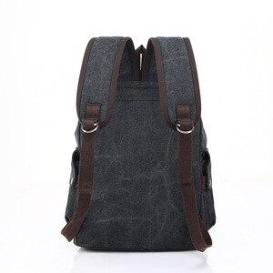 Image 3 - حقيبة ظهر للكمبيوتر المحمول للرجال عالية الجودة من القماش حقائب مدرسية للمراهقين حقيبة ظهر للسفر ذات سعة كبيرة حقائب نهارية