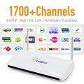 IPTV Set Top Box Leadcool Android Wifi 1G/8G Incluem 1700 Itália Portugal Europa Receptor Árabe Francês céu Pacote de Canais de IPTV