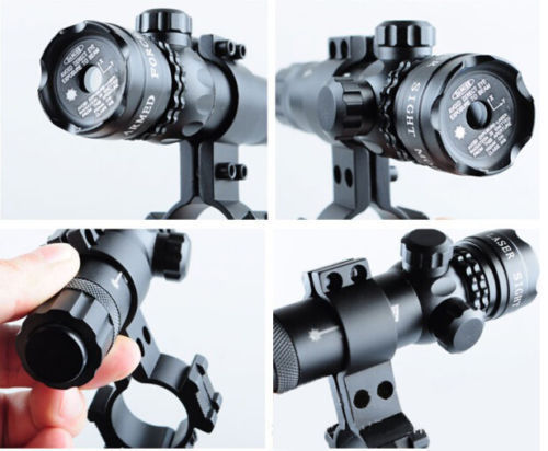 Tactical Green Red Dot Laser Sight Rifle Gun Scope Rail Barrel Mount Cap Pressure Switch Laser Sight