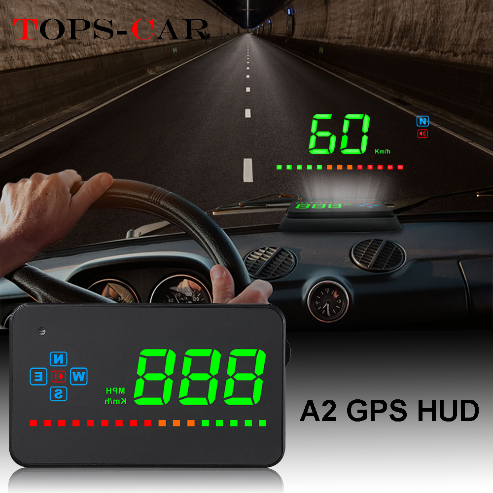 GEYIREN A2 HUD GPS Digital Speedometer Head Up Display Overspeed Warning Alarm Windshield Projector For Car-in Head-up Display from Automobiles & Motorcycles