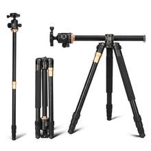 """Q999H أفقي ترايبود المهنية كاميرا مسطحة ترايبود 61 """"المحمولة المدمجة مرنة ترايبود لكانون نيكون سوني DSLR كاميرات"""