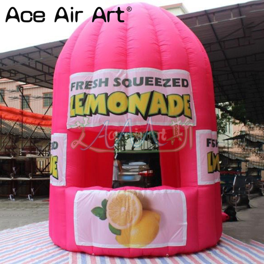 Customized inflatable lemon sale stand booth,juice stall,lemonade concession booth/cold  ...