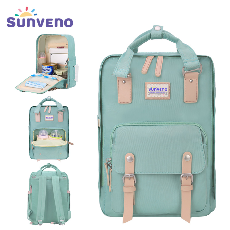Sunveno diaper bag fashion travel backpack maternity stroller bag square mummy nappy bag waterproof baby stuff bags for mom
