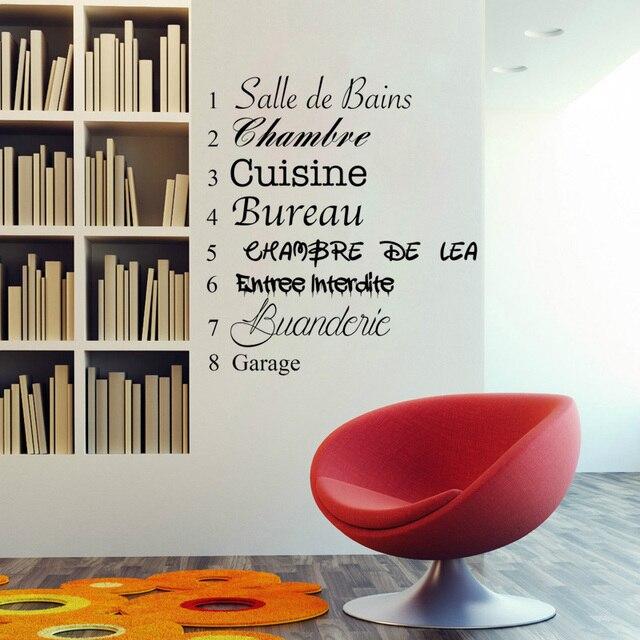 wallpapers met spreuken Creatieve Franse Spreuken DIY Muurstickers Woonkamer Slaapkamer  wallpapers met spreuken