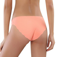 ECMLN Hot Sale Fashion Women Seamless Ultra-thin Underwear G String Womens Panties Intimates briefs drop shipping cheap low-Rise Spandex Cotton D-PB02-02-W Cotton Spandex None Solid Natural Color Everyday