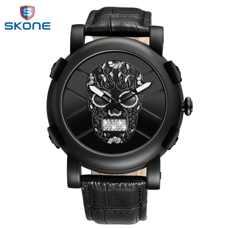 Skone Retro Round Wrist Watch Mens Watches Top Brand Luxury Watches Classic Men Quartz Wristwatches Clock reloj hombre luxury mens quartz wrist watch date gunmetal watches round case watch hot sale watches relogio reloj hombre montre clock saat