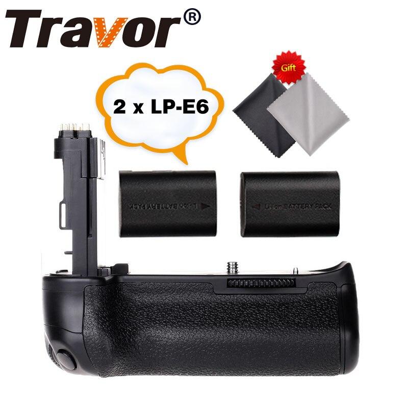 Travor Batterie Holder Grip pour Canon 6D Dslr remplacement BG-E13 + 2 pcs LP-E6 batterie + 2 pcs Microfibre chiffon de nettoyage