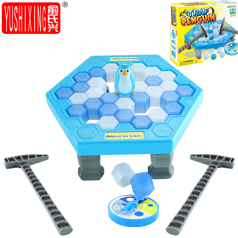 Ice breaking Puzzle Table Games Penguin Ice Pounding Ice Cubes save penguin knock ice block Wall toy For Children