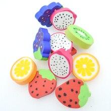6PCS/Set Fruit Series Eraser Student Strawberry Watermelon Orange Kiwi Grape Fantastic Rubber Office School Supplies