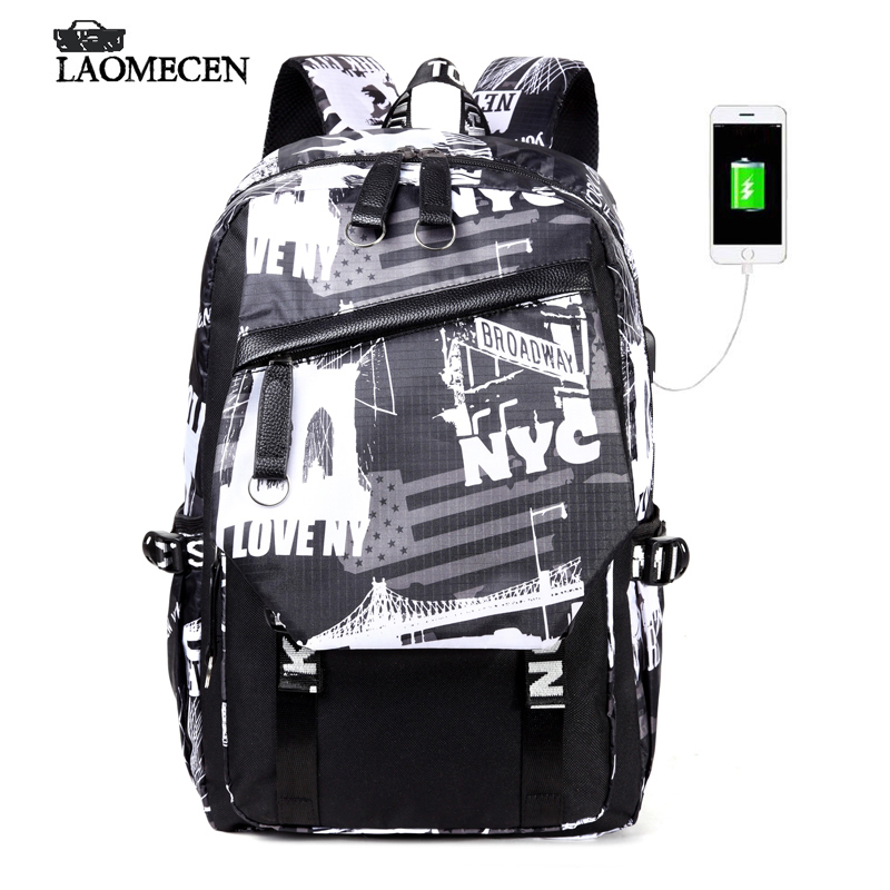 Woman Backpack Fashion 2018 Designer Nylon Waterproof Anti-theft Backpack Floral Printing Knapsack Anime Casual Back Pack Unique