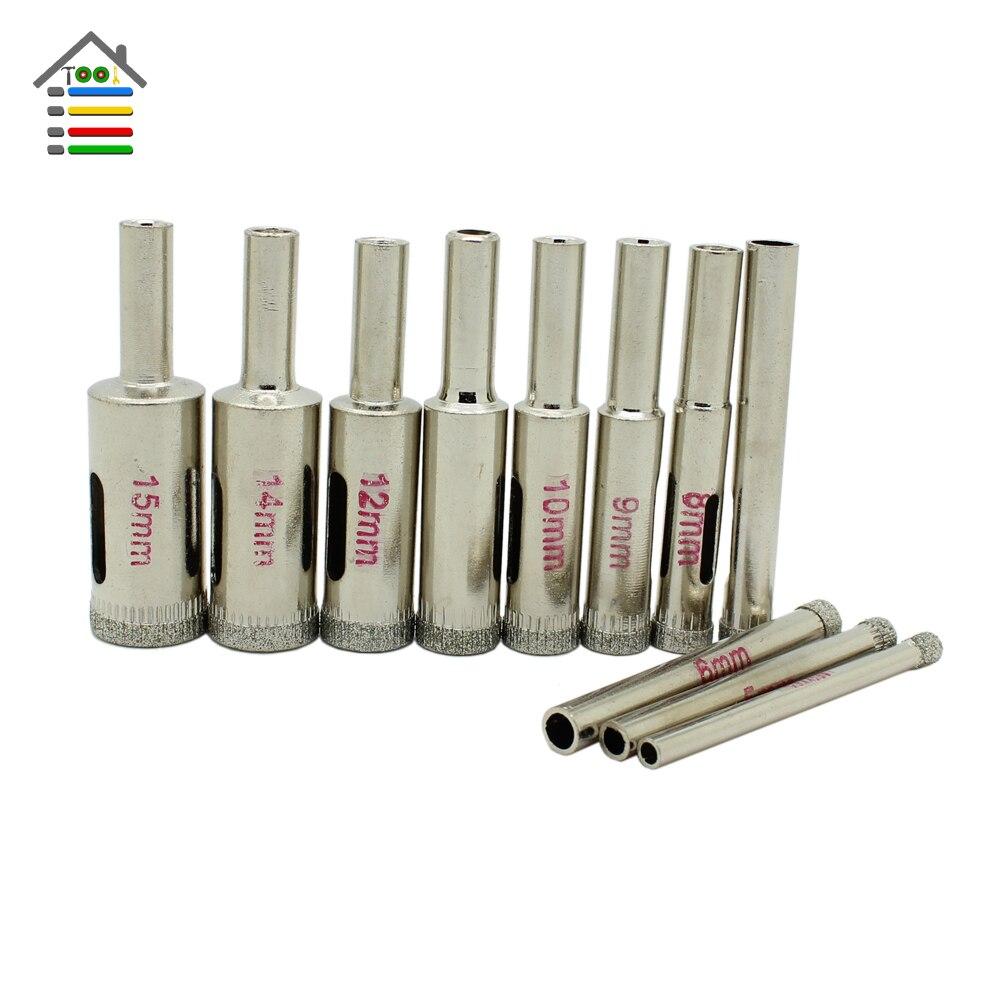 4mm diamond twist drill bit - New 4mm To 15mm Diamond Coated Core Drill Drills Bit Tile Hole Saw 11 Pieces Set