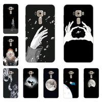 for Asus Zenfone 3 ze552kl Case,Silicon Black graffiti Painting Soft TPU Back Cover for Asus Zenfone 3 ze520kl Protect cases
