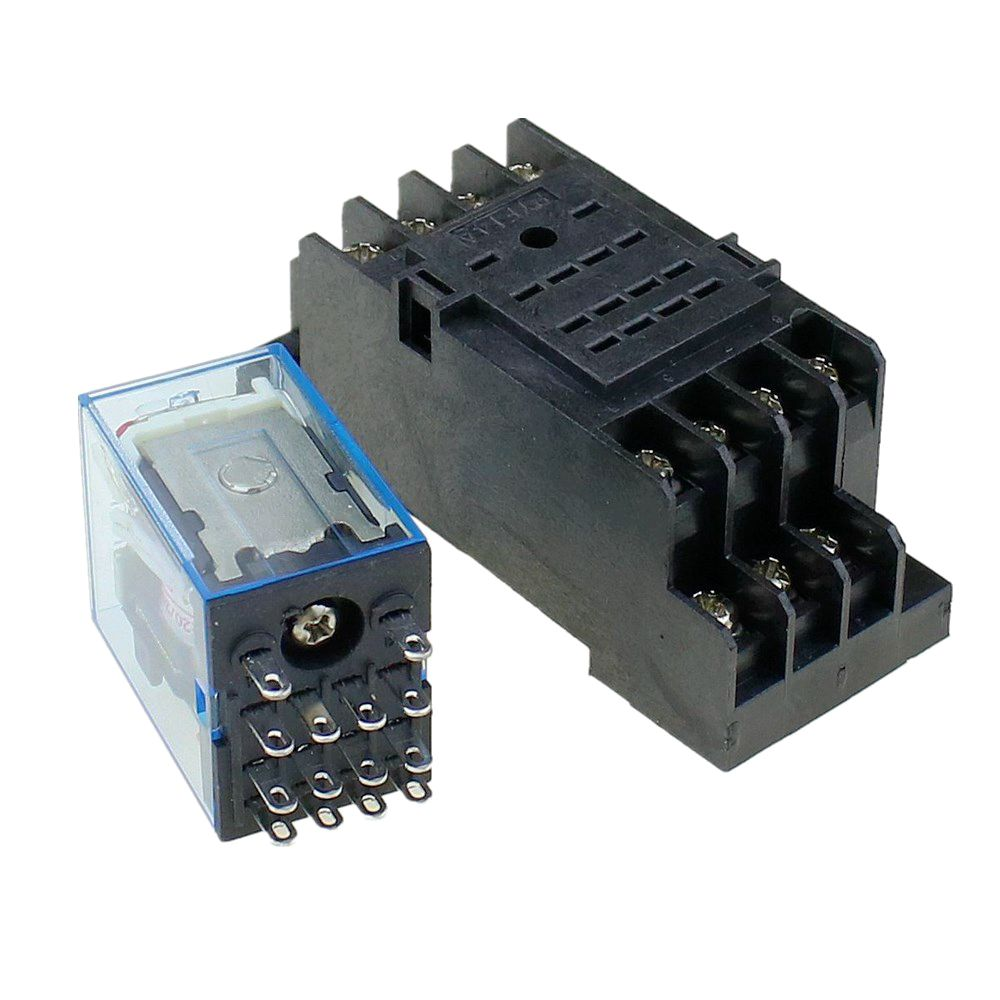 Image 2 - 5Pcs Relay MY4NJ 220/240V AC Small relay 5A 14PIN Coil DPDT With Socket BaseRelays   -