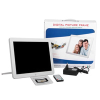 Multifunctional Digital Picture Frame with Full Featured Wireless Remote 12 Inch LCD Screen Display Built-in Speaker Dropshiping