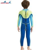 Погружение и парус подводное плавание для мальчиков цельный мм 2,5 мм гидрокостюм кожа погружение плавательный костюм для зимы дети мальчики купальник купальники