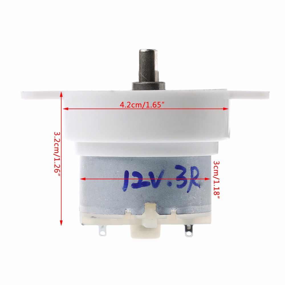 3 RPM عزم دوران عالية اسطوانة الكهربائية مايكرو موتور علبة التروس تبطئ كتم DC 12 V