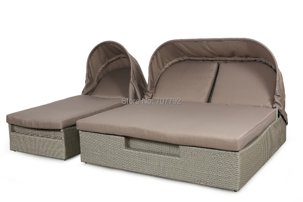 Round outdoor daybed promotion shop for promotional round for Sectional sofa with round chaise