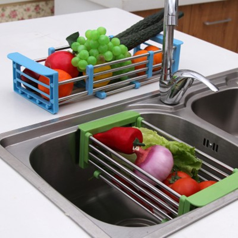 Stainless Steel Scalable Telescopic Kitchen Sink Dish Rack ...
