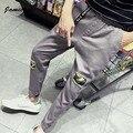 PlusSizeXXXXXL Jamickiki Calças de Marca Mens Alta Streetwear Design Buraco Harem Pants Corredores Moletom Homme Roupas