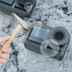 Image 4 - Temperli cam film Lens ekran patlamaya dayanıklı film için DJI OSMO EYLEM motion spor kamera Aksesuarları