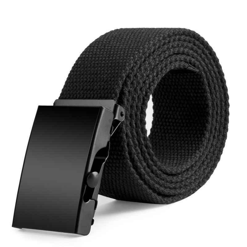Esportes Ao Ar Livre dos homens Homens Cinto de Nylon Cintura Canvas Web Belt Dazzling Luxo Casual Cintos de Fivela Para Homens