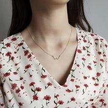 Amaiyllis Classic 925 Sterling Sliver Chains Gold w Letter Pendant Necklace Women Minimalist Chokers Necklaces Pendants