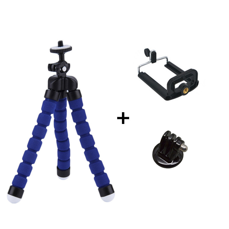 Octopus Tripod Mini Monopod Tripe Site For GoPro Hero 4 SJ4000 Accessories For Xiaomi Yi Mobile