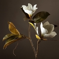 High Grade Decorative Artificial Flowers 1 Piece Super Beautiful Fake Magnolia Home/Coffee Shop Decor Display Silk Flowers