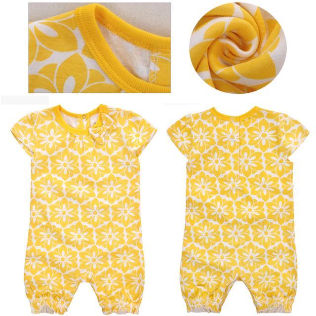 Momscare moda bebê macacão verão traje infantil bebê menina vestuário de algodão do bebê macacão