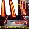 Car Styling KlA Sportage Taillight 2007 2014 Free Ship 2pcs Sportage Fog Light Chrome Sportage Tail