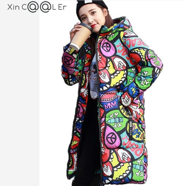 Beautiful !2018 Free Shipping New Autumn Winter  Women Padded Jacket Long  Coats Woman Coats And Jackets Plus Size Fashion Slim