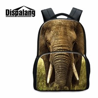 Elephant Backpacks For Teenagers Animal 3D Printed Mochilas For College Students Cool Dog Back Pack Pattern