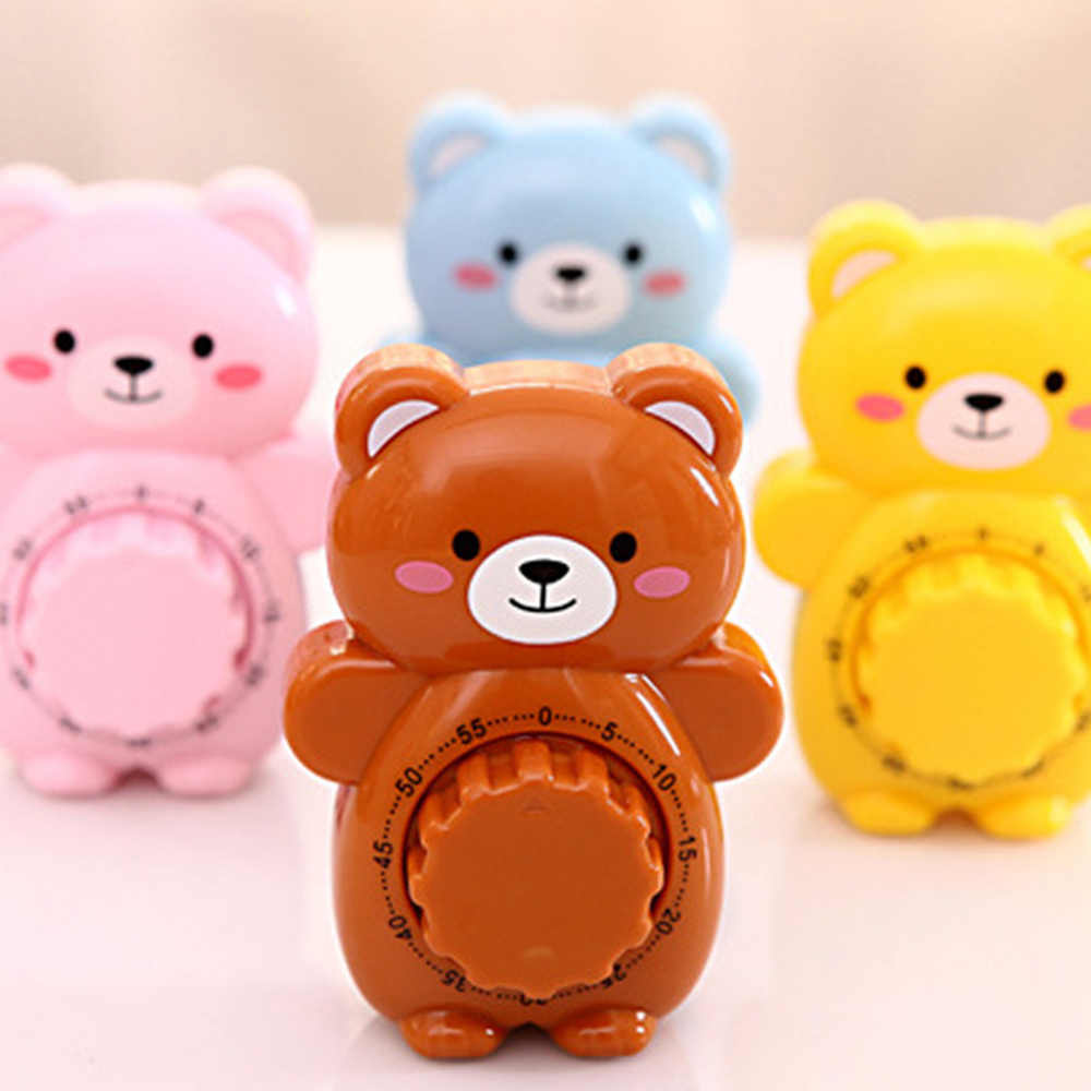 Creative Cute Bear Mechanical Kitchen Timer 60 Minutes