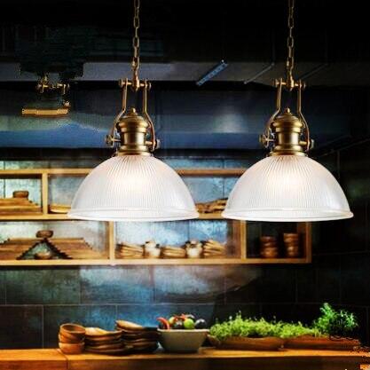 2 Stücke Amerikanischen Loft Stil Lampe Vintage Lampe Industrie Anhänger  Leuchten Esszimmer Bombilla Edison Lamparas